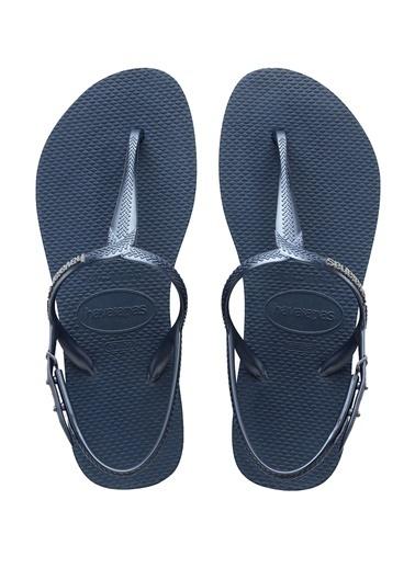Havaianas Havaianas Twist 101646284 Yuvarlak Burun Kemer Kapatmalı Kauçuk Nlı Kadın Plaj Terliği Mavi